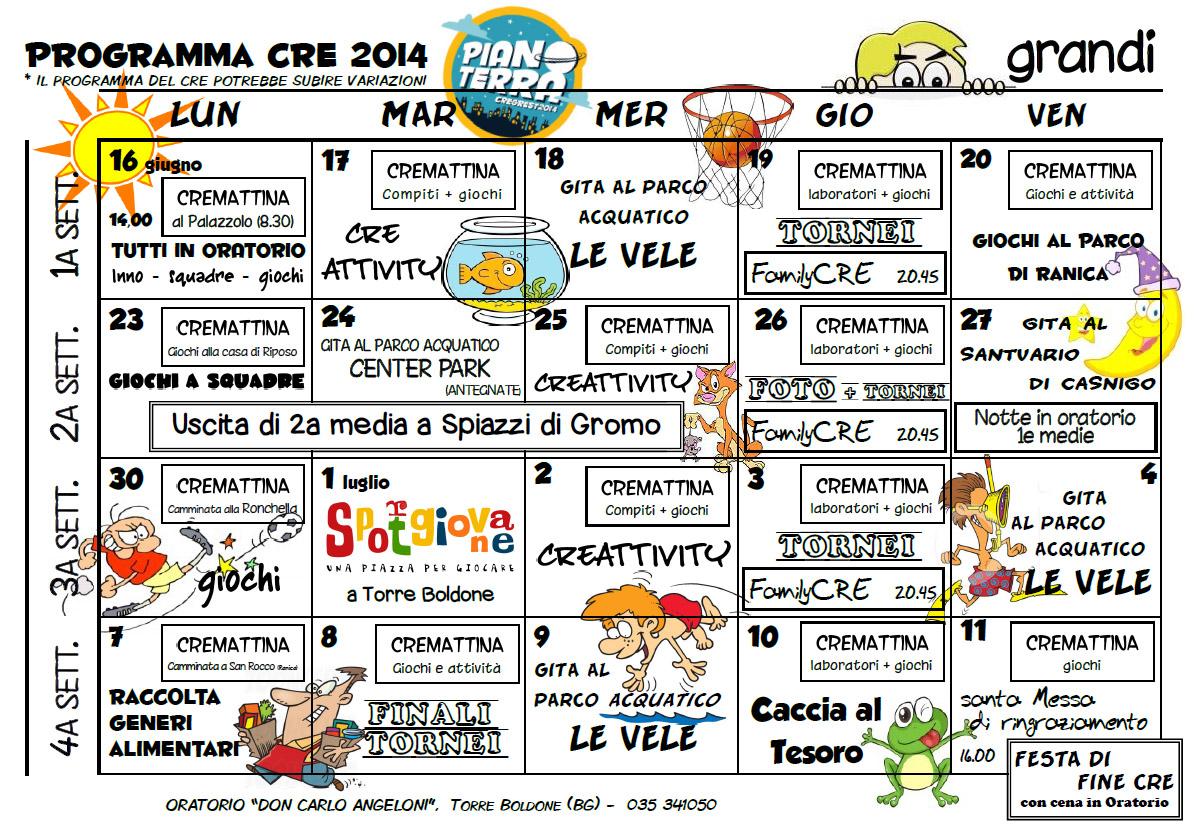 PROGRAMMA CRE 2014 GRANDI