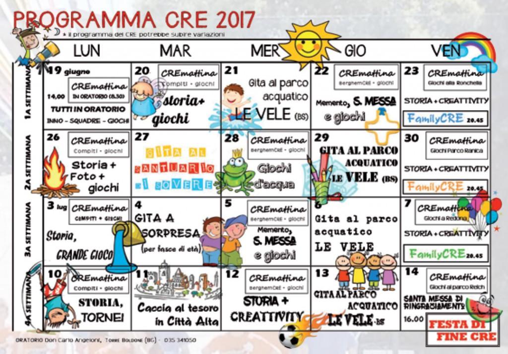 Programma CRE 2017