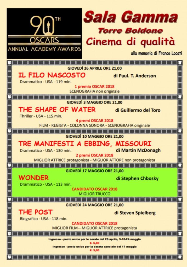 Locandina -cinema - oscar 2018